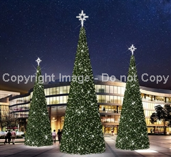 Giant Christmas tree with topper
