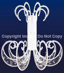 3-D Chandelier with pure white LED mini lights