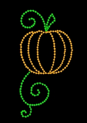 8' Pole mount Pumpkin with C7 LED Bulbs