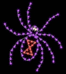 5' Giant Black Widow Spider ground mount Halloween display