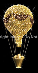 Hanging balloon with LED lights