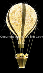 FDS 3D Hot Air Balloon Hanging Christmas Ornament w/ Knitted LEDs