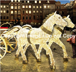 3-D Horses with polished aluminum accents