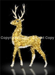 3-D Standing Reindeer made of polished aluminum