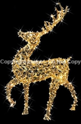 3-D Walking Reindeer with LED Lights