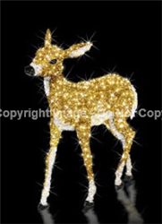 3D LED Baby Fawn Christmas Lawn Ornament