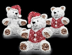 13 foot teddy bear with LED lights and carpet garland