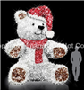 Giant 3-D bear with carpet garland and LED lights