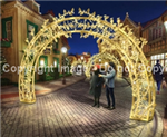 3-D Arch with leaves and LED lights