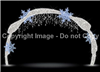 Snowflake arch with knitted LED lights