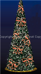 3-D Ribbon Tree with LED lights and ribbons