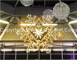 Giant 2D Hanging Airplane Snowflake Christmas Ornament