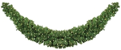 11' long Tapered Garland Swag with LED mini lights