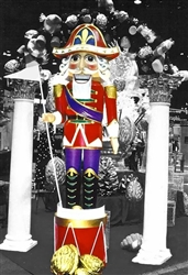 Nutcracker with Napoleon hat, drum,and staff