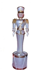 "Small fiberglass Toy Solider with or without Drum base 80"" Tall"