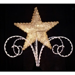 Star and Scroll tree topper with mesh inserts in 3D style
