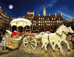 Carriage with 2 horses with polished aluminum accents