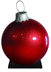 Giant Fiberglass Ball Ornament in various colors and sizes