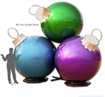 Fiberglass Glitter Ball Ornament Stacks with 4 Ball ornaments