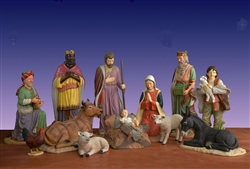 "54"" Scale Nativity set made of fiberglass"