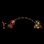 Animated LED Booming Cannon Arch 18' H X 64' L