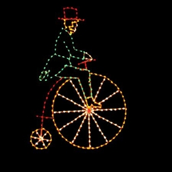 Victorian Bicycler with LED bulbs