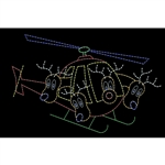 12' X 19' Animated reindeer flying helicopter