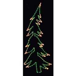 7' to 20' Silhouette Whispering pine tree with LED C7 Bulbs