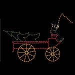 LED lighted Victorian Farm Wagon