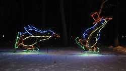 71/2' and 10' Silhouette Animated Penguin Skaters with LED Bulbs
