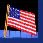 Animated USA lighted Flag