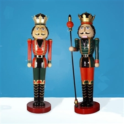 Giant Fiberglass Nutcracker pair
