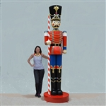 10' Giant Fiberglass Christmas Toy Soldier