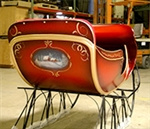 Deluxe Santa Sleigh made of fiberglass