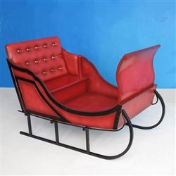 "60"" red sleigh with black trim"