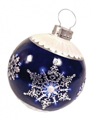Fiberglass LED lit ornament
