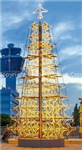 giant airplane tree with LED rope light