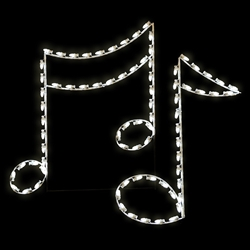 LED lighted Musical notes