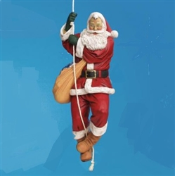 "92"" Hanging Santa on a rope"