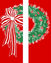 18 oz. Double wreath banner