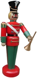 Jeweled Hand Painted Toy Soldier with trumpet