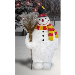 Giant Snowman with broom