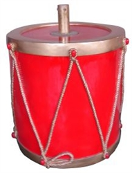Red & Metallic Gold Drum Tree Riser