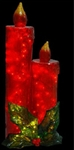 "43"" Illuminated Candles in Red and Green"