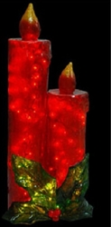 "43"" Illuminated Candles in Red and Green with LED lights"