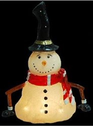 Large Melting Snowman with pure white LED lights
