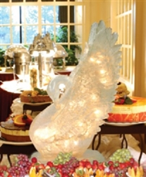 Illuminated Swan Ice Sculpture with 20 clear mini lights