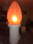 Fiberglass Lit Giant Light Bulb Indoor/Outdoor use.