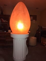 Fiberglass Lit Giant Light Bulb Indoor/Outdoor use