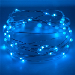 LED Blue or Cool shite 60 count battery operated fairy lights